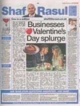 Businesses valentine day splurge