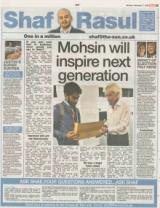 Mohsin will inspire next generation