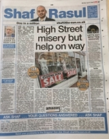 High Street misery but help on way.