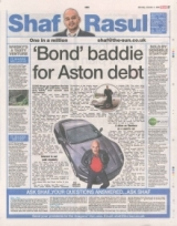 Bond Baddie for Aston Martin Debt.
