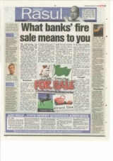 What Banks' fire sale means to you.