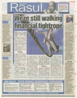 We're still walking a financial tightrope