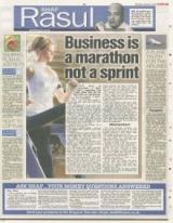 Business is a marathon not a sprint