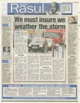 We must insure we weather the storm
