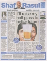 Raise my half glass to a better future