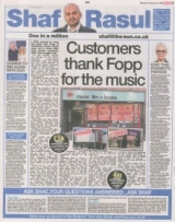 Customers thank Fopp for the music.