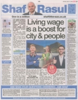 Living wage is a boost for city and people