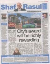 City award will be richly rewarding