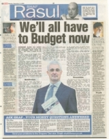 WE'LL  ALL HAVE TO BUDGET NOW