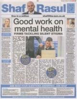 Good work on mental health.