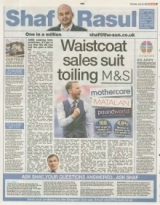 Waistcoat sales suit toiling Marks and Spencer