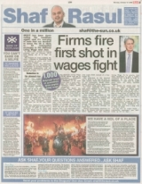Firms Fire First Shot in wages fight