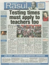 Testing times must apply to teachers too.