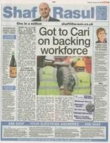 Got to Cari on backing workforce.