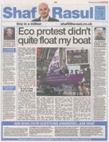Eco protest didnt quite float my boat