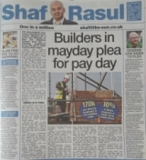 Builders in mayday plea for pay day