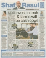Invest in tech and farms will be cash cows.