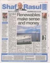 Renewables make sense and money