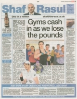 Gyms cash in as we lose the pounds.